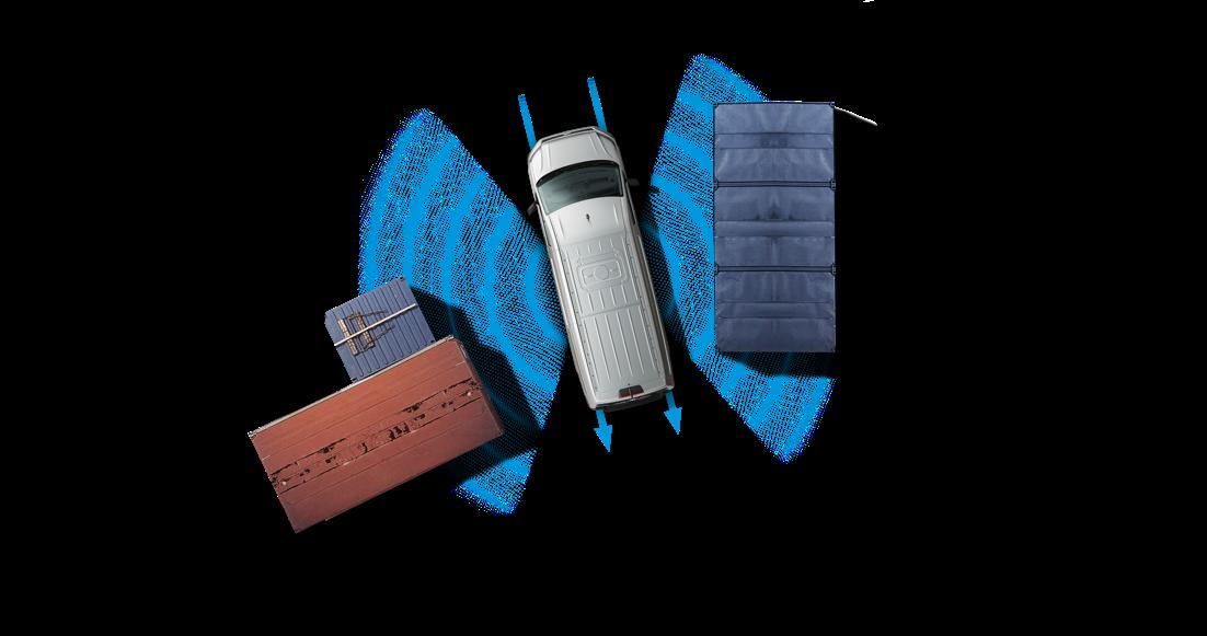 מערכת חיישני חניה היקפית-צידית