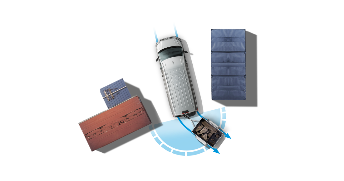 מערכת סיוע לחניה עם נגרר